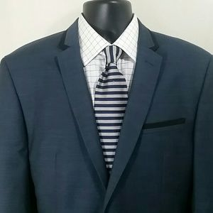 ANDREW FEZZA Medium Blue Tuxedo Jacket Size 44 R